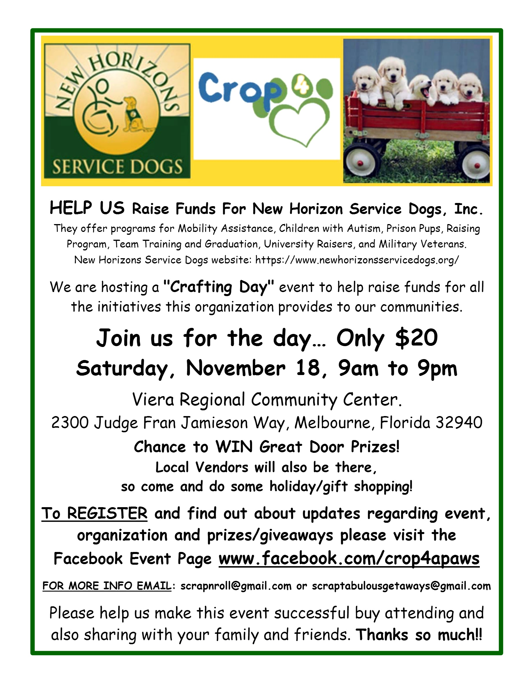 Crop 4 Paws On November 18, 2017 At Viera Regional Community Center